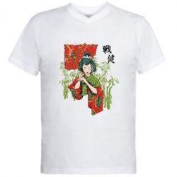 Чоловіча футболка з V-подібним вирізом Japanese