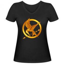 Жіноча футболка з V-подібним вирізом Jay