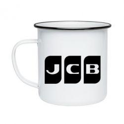 Кружка емальована JCB 2