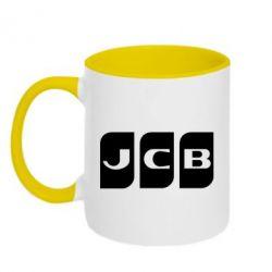 Кружка двоколірна 320ml JCB 2