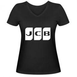 Жіноча футболка з V-подібним вирізом JCB 2