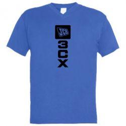 Чоловіча футболка з V-подібним вирізом JCB 3CX