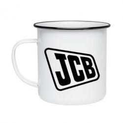 Кружка емальована JCB