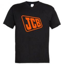 Чоловіча футболка з V-подібним вирізом JCB