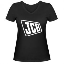Жіноча футболка з V-подібним вирізом JCB