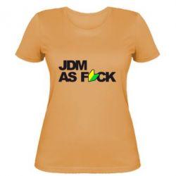 Женская футболка JDM As Fuck - FatLine