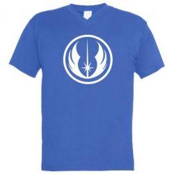 Мужская футболка  с V-образным вырезом Jedi Order - FatLine