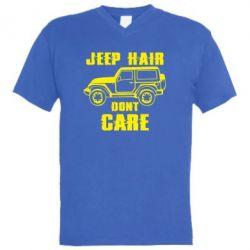 Чоловіча футболка з V-подібним вирізом Jeep hair don't care