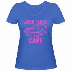 Жіноча футболка з V-подібним вирізом Jeep hair don't care