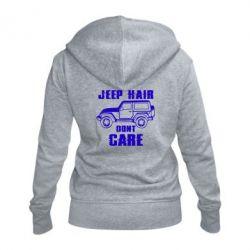 Жіноча толстовка на блискавці Jeep hair don't care