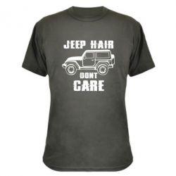 Камуфляжна футболка Jeep hair don't care