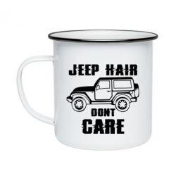 Кружка емальована Jeep hair don't care