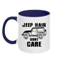 Кружка двоколірна 320ml Jeep hair don't care