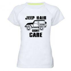 Жіноча спортивна футболка Jeep hair don't care