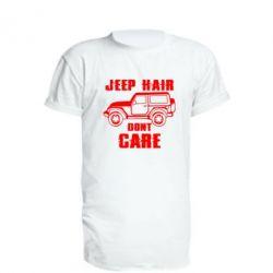 Подовжена футболка Jeep hair don't care