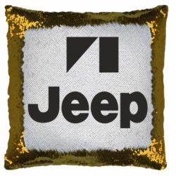 Подушка-хамелеон Jeep Logo