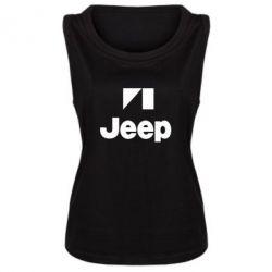 Женская майка Jeep Logo - FatLine