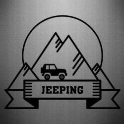 Наклейка Jeep Mountains