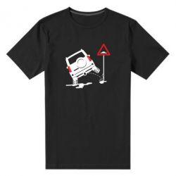 Чоловіча стрейчева футболка Jeep pissing on the sign
