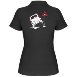 Жіноча футболка поло Jeep pissing on the sign