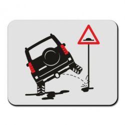 Килимок для миші Jeep pissing on the sign