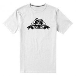 Мужская стрейчевая футболка Jeep rocks