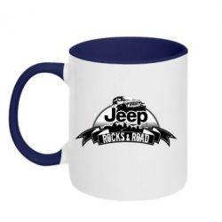 Кружка двухцветная 320ml Jeep rocks