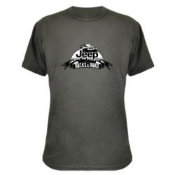Камуфляжная футболка Jeep rocks