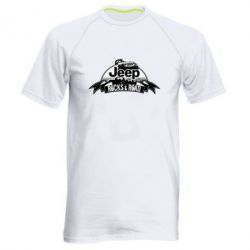 Мужская спортивная футболка Jeep rocks