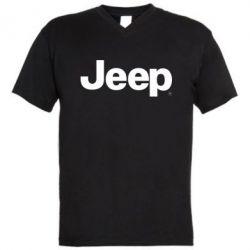 Мужская футболка  с V-образным вырезом Jeep - FatLine