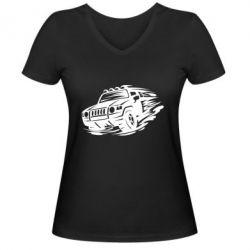 Жіноча футболка з V-подібним вирізом Jeep