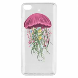 Чехол для Xiaomi Mi 5s Jellyfish and flowers