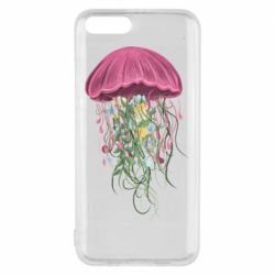 Чехол для Xiaomi Mi6 Jellyfish and flowers