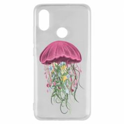 Чехол для Xiaomi Mi8 Jellyfish and flowers