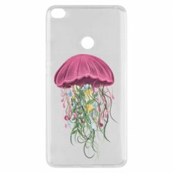 Чехол для Xiaomi Mi Max 2 Jellyfish and flowers