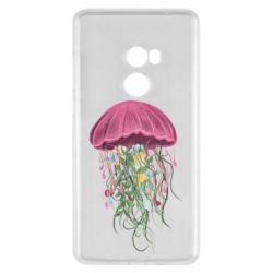 Чехол для Xiaomi Mi Mix 2 Jellyfish and flowers