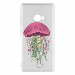 Чехол для Xiaomi Mi Note 2 Jellyfish and flowers