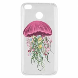 Чехол для Xiaomi Redmi 4x Jellyfish and flowers