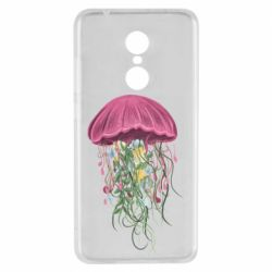 Чехол для Xiaomi Redmi 5 Jellyfish and flowers