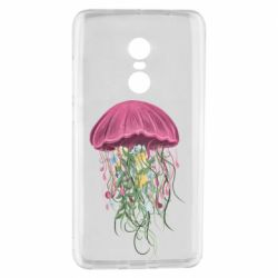 Чехол для Xiaomi Redmi Note 4 Jellyfish and flowers
