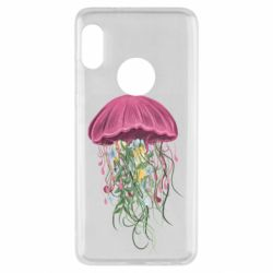 Чехол для Xiaomi Redmi Note 5 Jellyfish and flowers