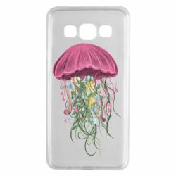 Чехол для Samsung A3 2015 Jellyfish and flowers