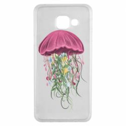 Чехол для Samsung A3 2016 Jellyfish and flowers