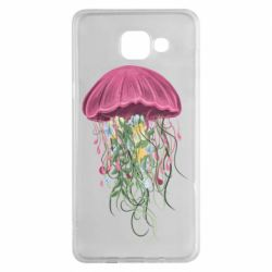 Чехол для Samsung A5 2016 Jellyfish and flowers