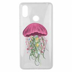 Чехол для Xiaomi Mi Max 3 Jellyfish and flowers
