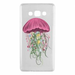 Чехол для Samsung A7 2015 Jellyfish and flowers