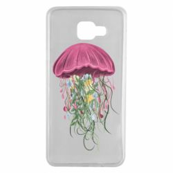 Чехол для Samsung A7 2016 Jellyfish and flowers