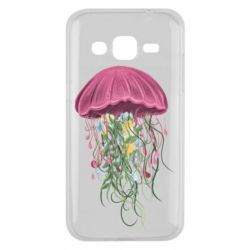 Чехол для Samsung J2 2015 Jellyfish and flowers
