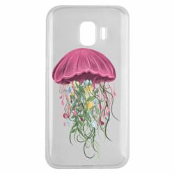 Чехол для Samsung J2 2018 Jellyfish and flowers