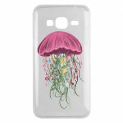 Чехол для Samsung J3 2016 Jellyfish and flowers